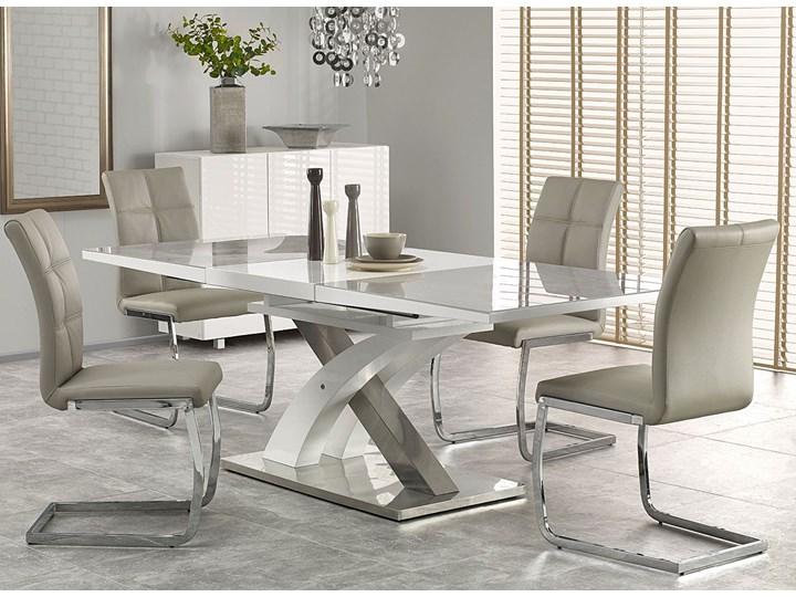 Stół rozkładany Zander - popiel Rozkładanie Rozkładane Szerokość 90 cm Wysokość 75 cm Długość 220 cm Kolor Szary