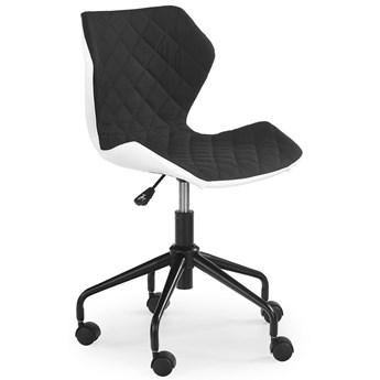 Pikowany fotel obrotowy Kartex - czarny