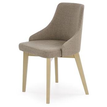 Tapicerowane krzesło drewniane Altex - beżowe