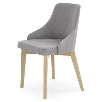 Krzesło tapicerowane styl skandynawski Altex - popielate