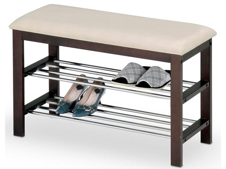 Drewniany stojak na obuwie Rexon - wenge Drewno Typ Stojaki