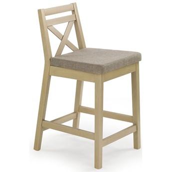 Drewniane krzesło barowe Lidan - dąb sonoma