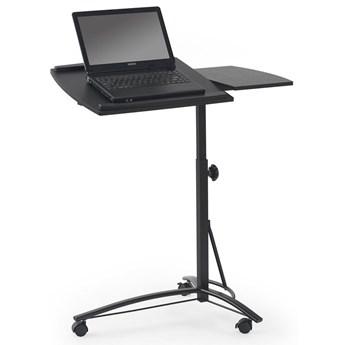 Regulowane biurko na kółkach Ertis - czarne