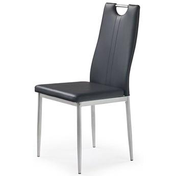 Krzesło tapicerowane Vulpin - czarne