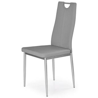 Krzesło tapicerowane do kuchni, salonu Vulpin - popielate