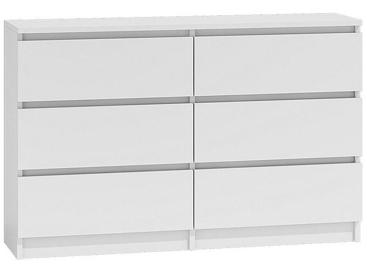 Nowoczesna komoda Marea 120 cm - biała Kategoria Komody Głębokość 30 cm Płyta MDF Z szufladami Wysokość 77 cm Styl Nowoczesny