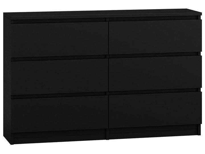 Komoda Marea 2X 140 cm - czarna Styl Nowoczesny Wysokość 77 cm Szerokość 138 cm Z szufladami Styl Minimalistyczny