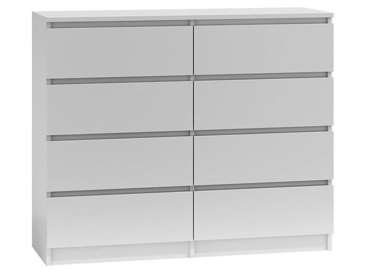 Komoda nowoczesna Syntia 120 cm - biała Wysokość 97 cm Z szufladami Głębokość 30 cm Kolor Biały