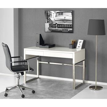 Lakierowane biurko Folger - biały połysk