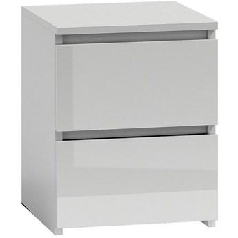 Lakierowana szafka nocna Siena 5X - biały połysk
