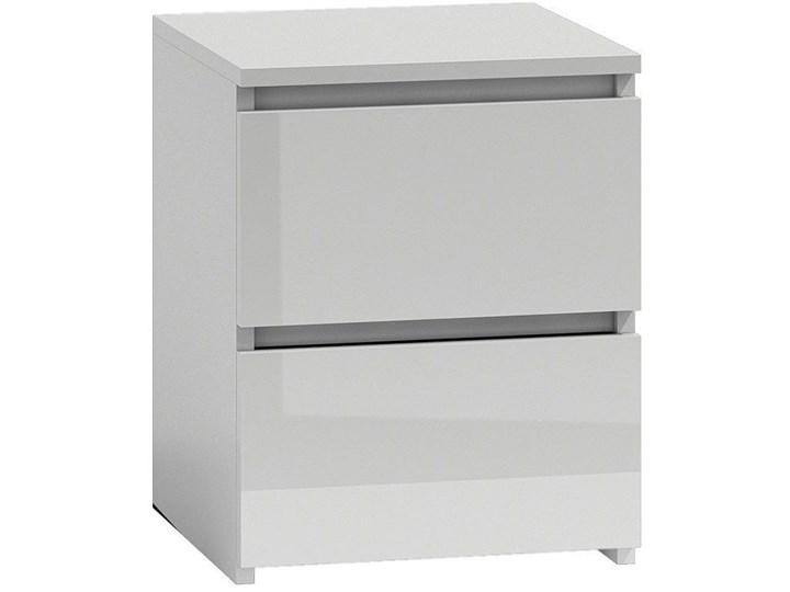 Lakierowana szafka nocna Siena 5X - biały połysk Pomieszczenie Sypialnia Kategoria Szafki i regały