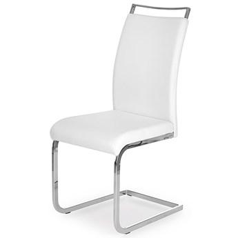 Tapicerowane krzesło Hader - białe