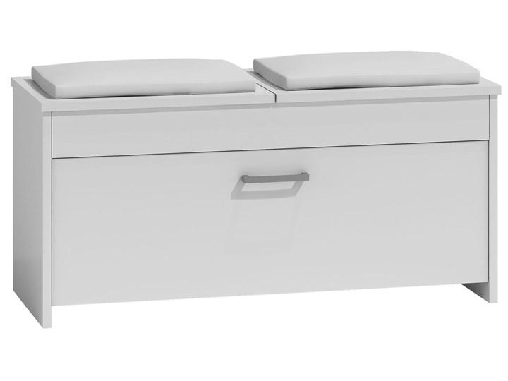 Szafka na buty z siedziskiem Leni 3X - biała Płyta MDF Ilość szuflad Bez szuflad