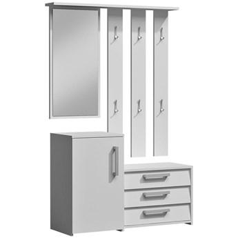 Garderoba z lustrem do przedpokoju Senea - biała