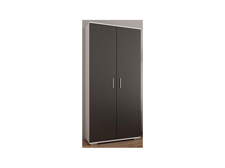 Szafa na ubrania Pixelo 3R - biała + czarna Płyta MDF Drewno Kategoria Szafy do garderoby Kolor Biały