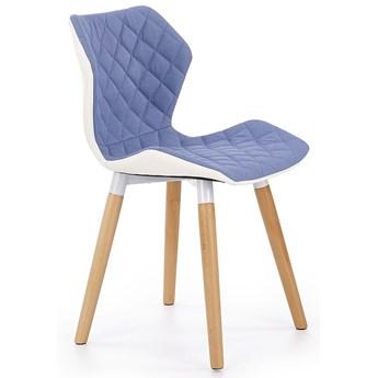 Krzesło drewniane Kilmer - niebieskie