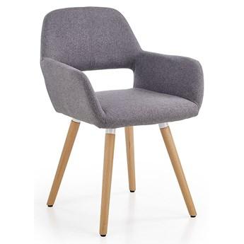 Drewniane krzesło z podłokietnikami Odeon - popiel