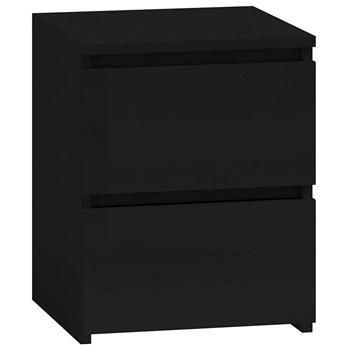 Lakierowana szafka nocna Siena 4X - czarny połysk