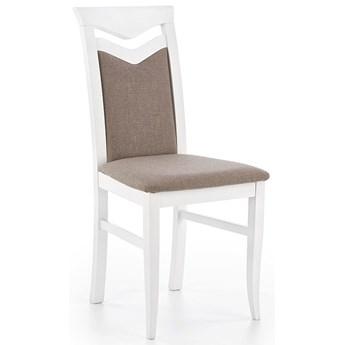 Krzesło drewniane tapicerowane Eric - białe