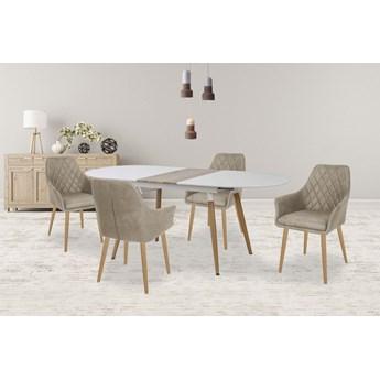 Rozkładany stół Santo - biały