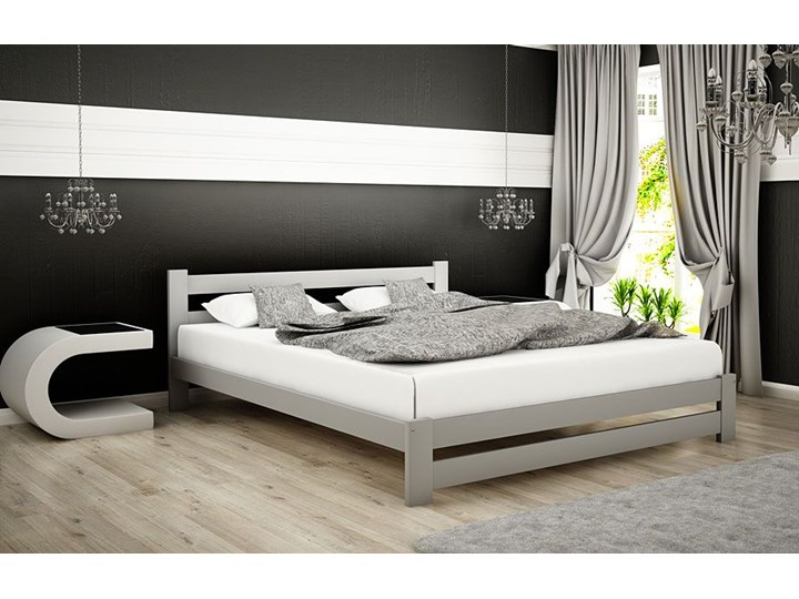 Łóżko drewniane Marsel 160x200 - popiel Kolor Szary