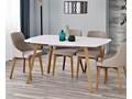 Rozkładany stół Modeo - biały Długość 150 cm  Drewno Kolor Beżowy Wysokość 76 cm Kategoria Stoły kuchenne