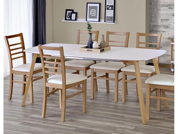 Minimalistyczny stół Modeo - drewniany Długość 135 cm Drewno Wysokość 76 cm Kształt blatu Prostokątny Styl Skandynawski