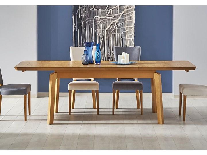 Minimalistyczny stół Tudor - rozkładany Kształt blatu Prostokątny Długość 160 cm  Drewno Szerokość 160 cm Wysokość 78 cm Rozkładanie