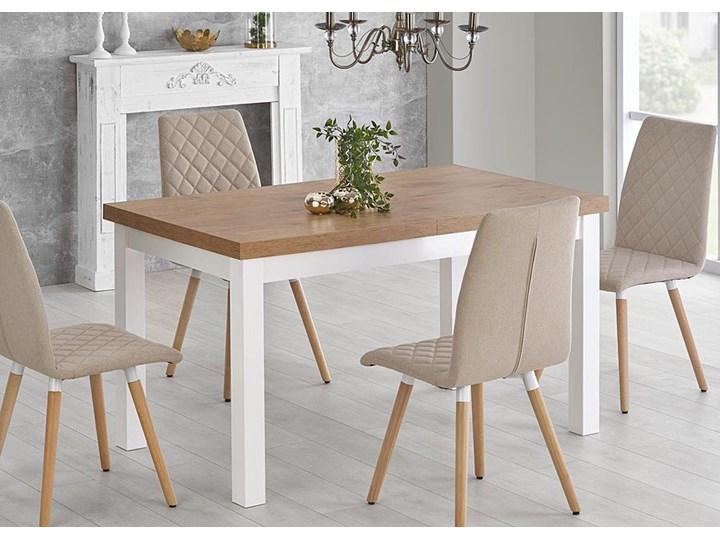 Modernistyczny stół do kuchni Selen - rozkładany Wysokość 76 cm Szerokość 140 cm Drewno Długość 140 cm  Kształt blatu Prostokątny