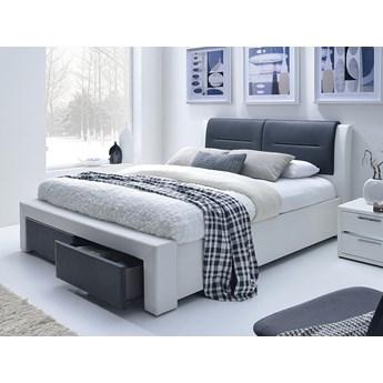 Łóżko Celine 140x200 - czarno - białe