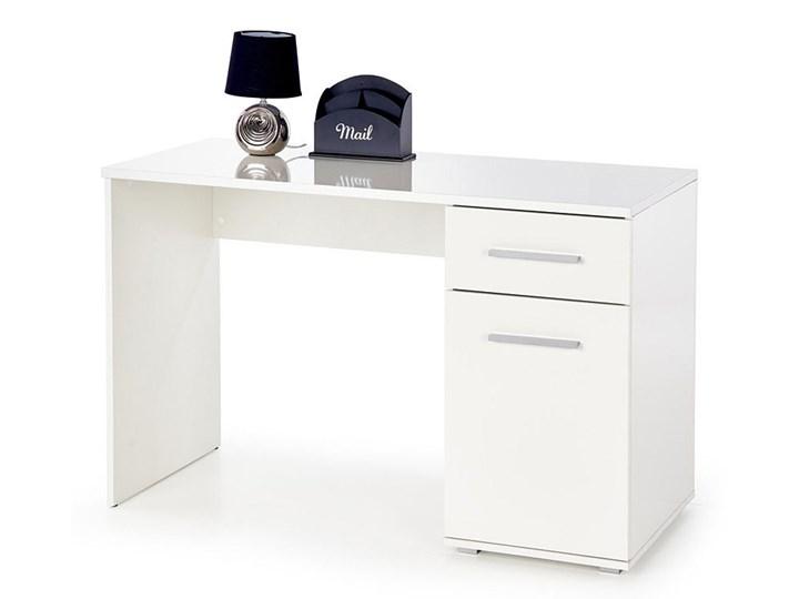 Modne biurko Lines - białe Głębokość 55 cm Szerokość 120 cm Płyta meblowa Kolor Biały
