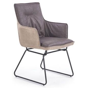 Krzesło industrialne z podłokietnikami Viler 3X - popiel