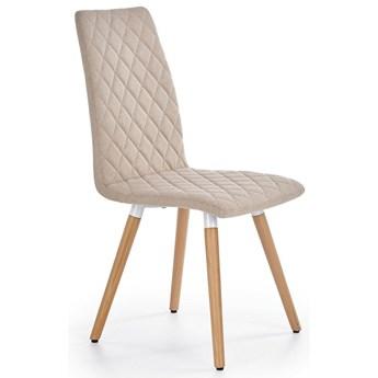 Pikowane krzesło stylowe Corden - beżowe