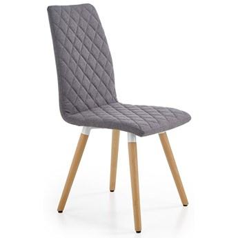 Tapicerowane krzesło pikowane Corden - popielate