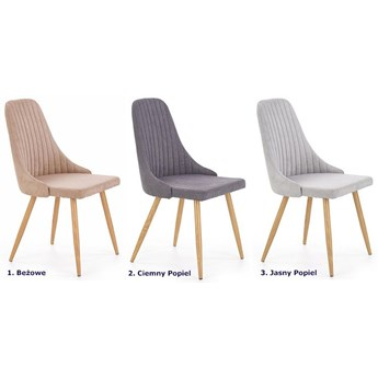 Krzesło tapicerowane Isent - jasny popiel