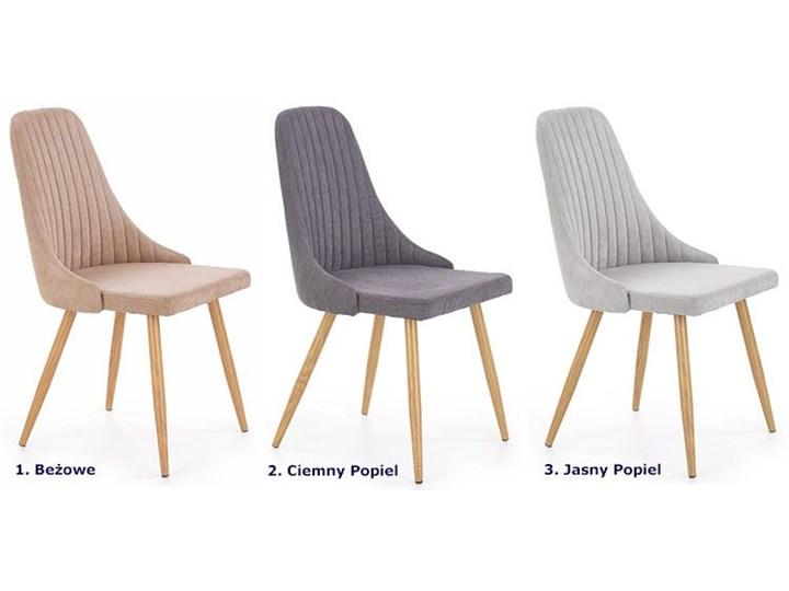 Krzesło tapicerowane Isent - jasny popiel Tkanina Styl Klasyczny