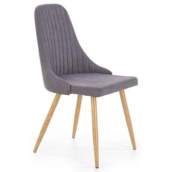 Krzesło tapicerowane Isent - ciemny popiel