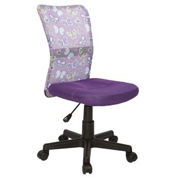 Fotel młodzieżowy Tobin - fioletowy