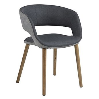 Krzesło muszelka Stovo - ciemnoszare