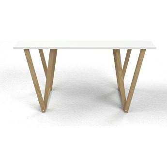 Skandynawskie biurko Alto 2X - białe