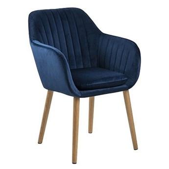 Tapicerowany pikowany fotel Erino - niebieski