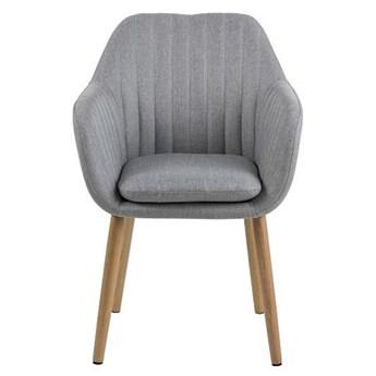 Tapicerowany fotel z podłokietnikami Erino 2X - szary