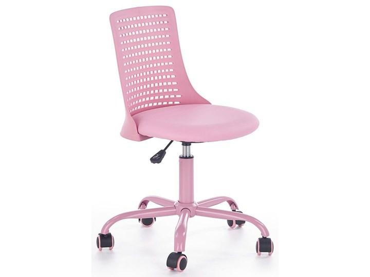 Obrotowy fotel dla dziewczynki Moli - różowy Wysokość 89 cm Wysokość 78 cm Tkanina Styl Nowoczesny Szerokość 43 cm Kategoria Krzesła kuchenne