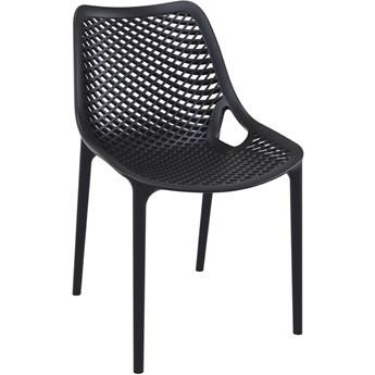 Krzesło ażurowe Lofti - czarne