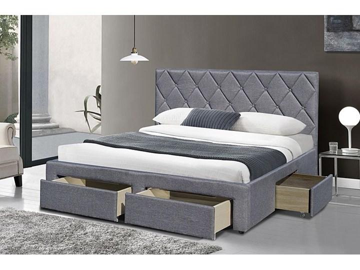 Łóżko Rosea 160x200 - szare Kategoria Łóżka do sypialni Łóżko tapicerowane Kolor Szary