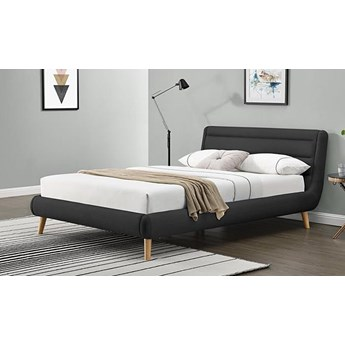 Łóżko Dalmar 140x200 - ciemny popiel