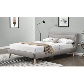 Łóżko Dalmar 140x200 - jasny popiel