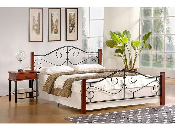 Łóżko Sirela 140x200 - czereśnia antyczna Łóżko metalowe Kolor Brązowy
