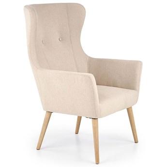 Tapicerowany fotel uszak wypoczynkowy Devan - beżowy