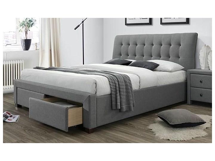 Łóżko Almos 160x200 - szare Łóżko tapicerowane Kolor Szary